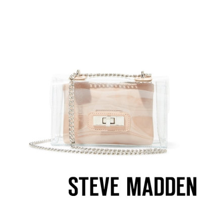 STEVE MADDEN-BSCENE 時尚果凍透明宴會包-透明色