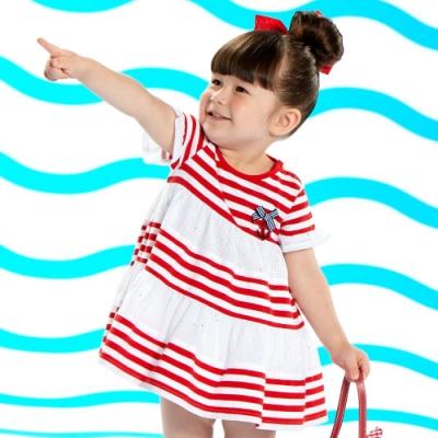WHY AND 1/2 mini 亮蔥棉質萊卡洋裝 1Y~4Y