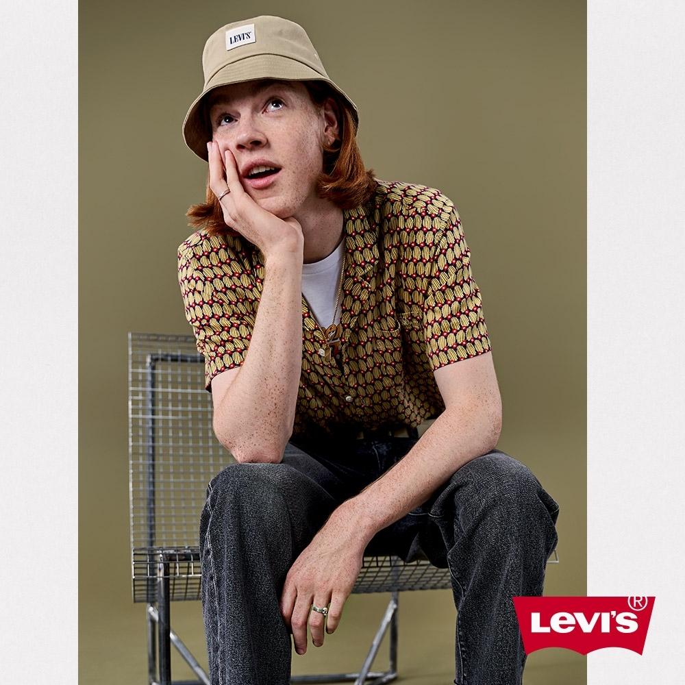 Levis 男款 短袖古巴襯衫 滿版古巴風圖騰印花 單口袋 寬鬆休閒版型 Lyocell天絲棉