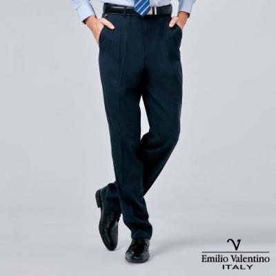 Emilio Valentino 范倫提諾吸濕排汗條紋打摺西褲-丈青w
