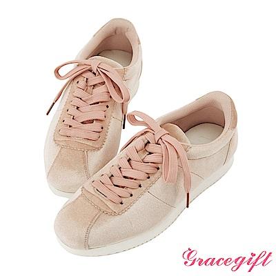 Grace gift-經典復古休閒鞋 粉