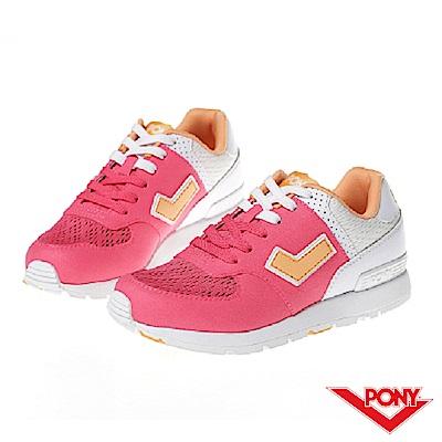 【PONY】SOLA-T系列-粉彩系列復古休閒鞋-女-粉
