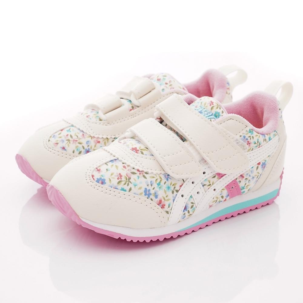 亞瑟士SUKU2機能鞋 經典碎花護足款 MON87-700白粉(中小童段)