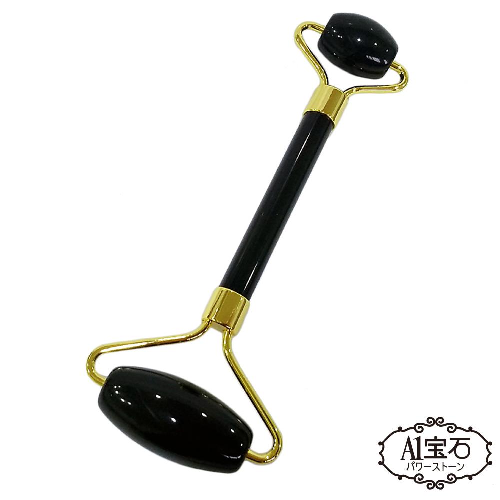 A1寶石  黑曜石-刮痧板棒穴道肩頸按摩同時淨化身體負能量-有助貴人招財旺運