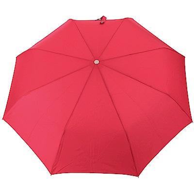 LONGCHAMP L'Envol 自動伸縮摺疊傘(玫瑰紅)