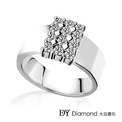 DY Diamond 大亞鑽石 18K金 時尚風格鑽石女戒