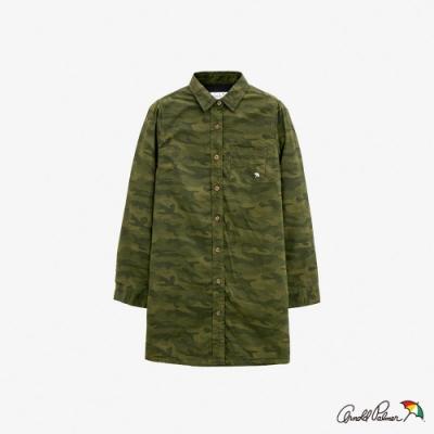 Arnold Palmer -女裝-迷彩搖粒絨襯衫外套-綠色