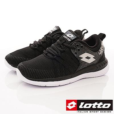 Lotto樂得-花漾雙密度跑鞋款 SI820黑(女段)