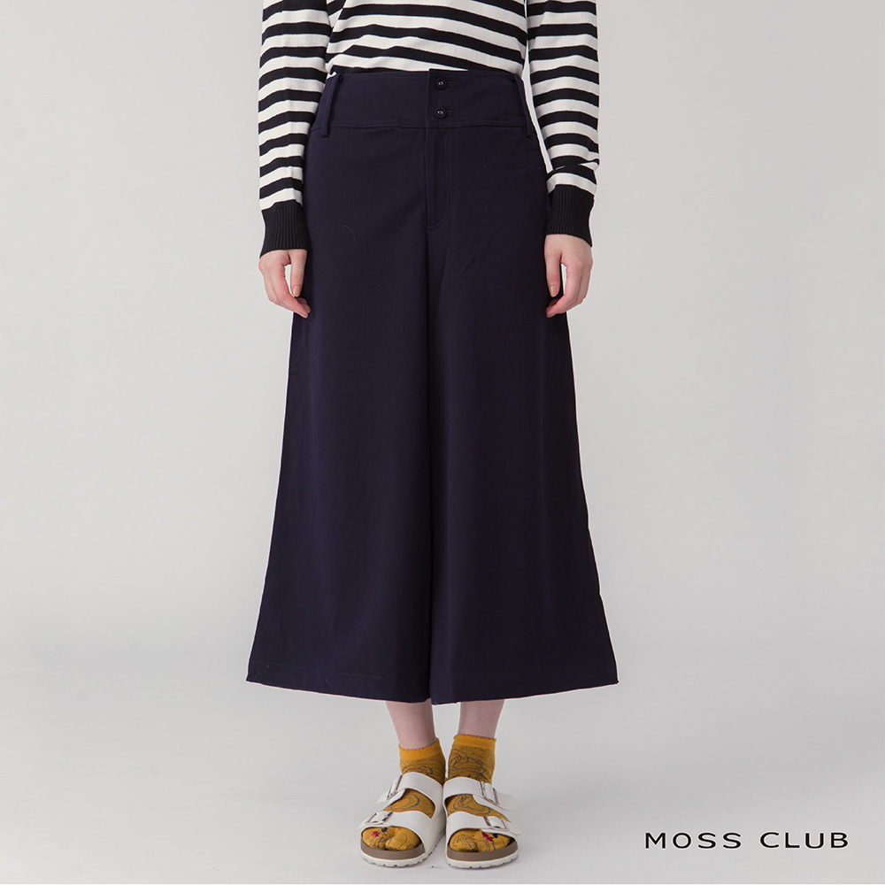 【MOSS CLUB】立體剪裁寬褲口-長褲(共二色)