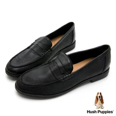 Hush Puppies 經典學院風百搭樂福鞋-黑色
