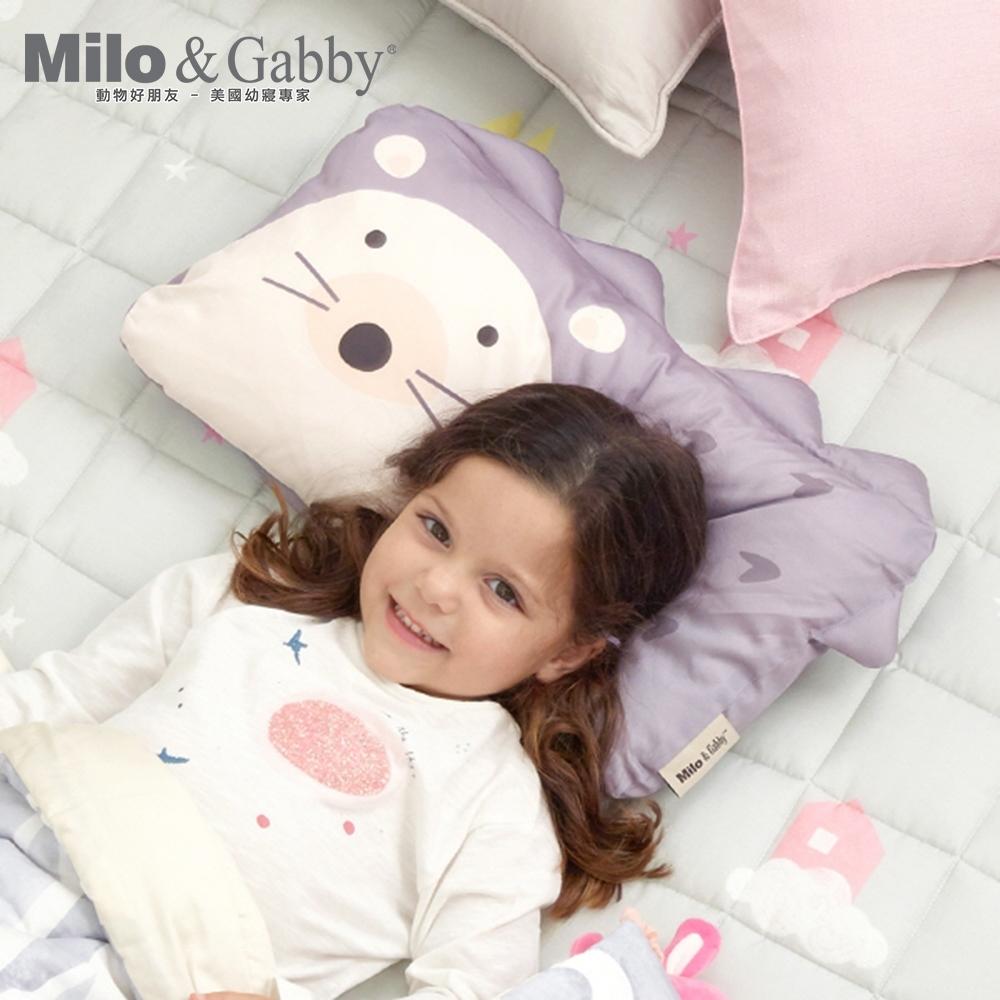 Milo&Gabby動物好朋友-可水洗防蹣mini幼童枕心+枕套組-1歲以上(HEDLEY小刺蝟)