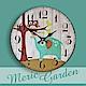 【Meric Garden】風格仿舊裝飾壁掛式時鐘/壁鐘/掛鐘(森林小象) product thumbnail 1