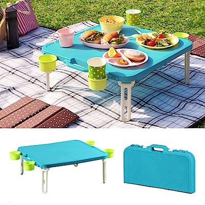 日本SHINWA伸和 野餐桌(藍)