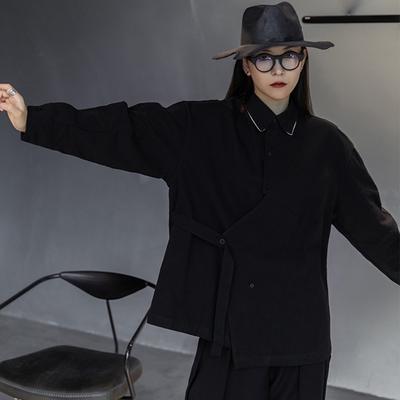 設計所在Style-寬鬆撞色線中性夾克外套