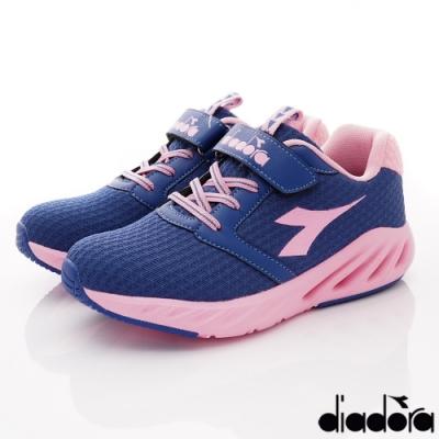 DIADORA童鞋 4E散熱氣動跑鞋款 ON1011藍粉(中大童段)