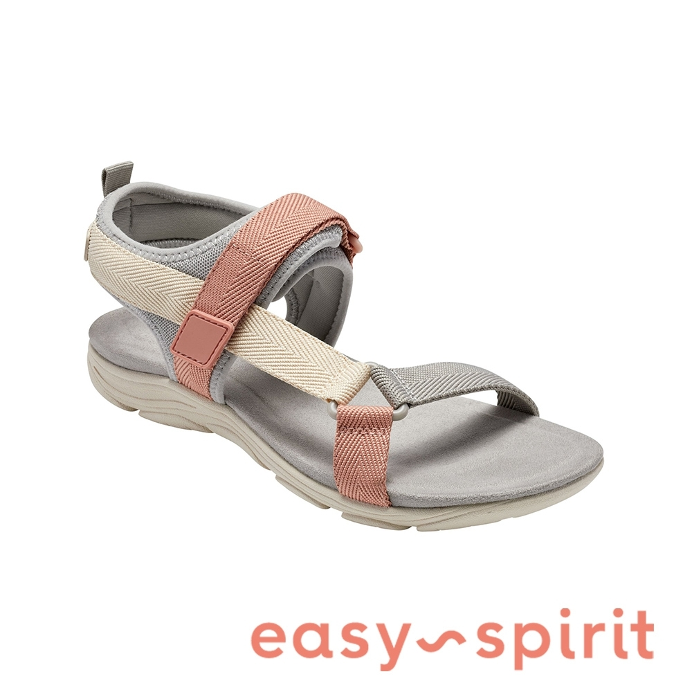 Easy Spirit-seLOCKE 舒適休閒涼鞋-粉灰色