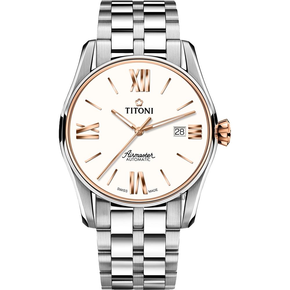 TITONI 梅花錶 新空中霸王系列機械錶(83908 SRG-619)-銀/40mm