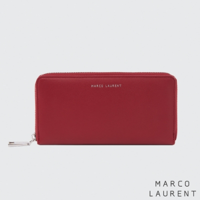 MARCO LAURENT Eternal 牛皮多層拉鍊長夾 - 紅色