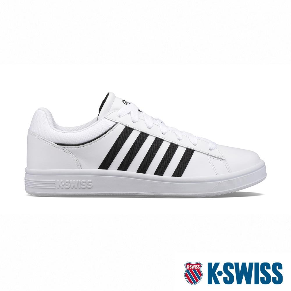 K-SWISS Court Winston 時尚運動鞋-男-白/黑