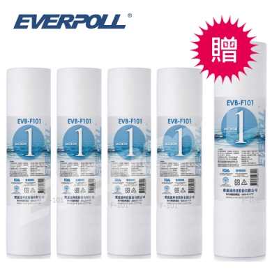 【EVERPOLL】 10吋一般型PP濾芯 F-101(EVB-F101) [買4+送1]
