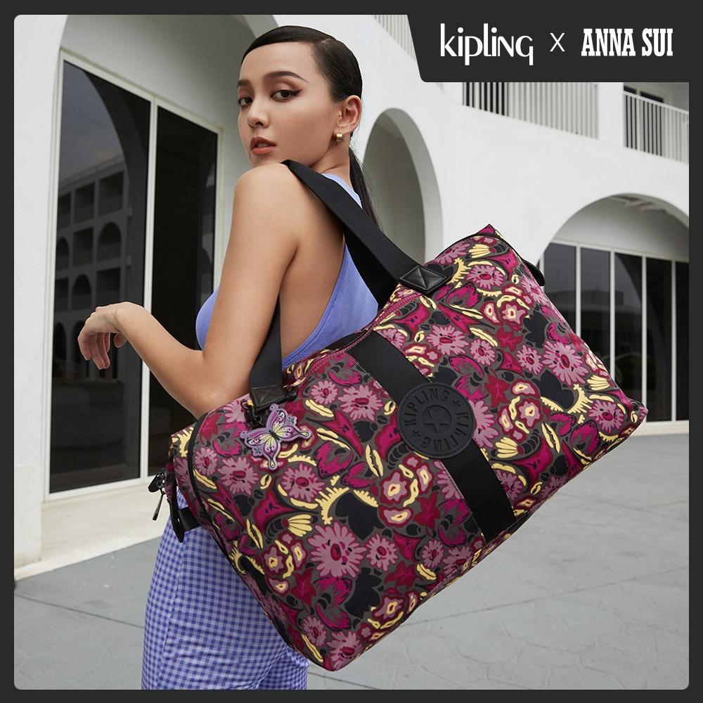 Kipling Kipling x ANNA SUI 浪漫向日葵圖騰手提側背包-ART M