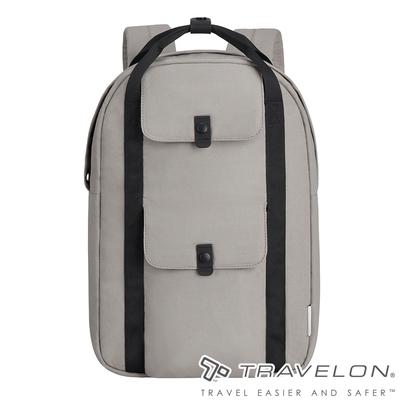 【Travelon美國防盜包】ORIGIN抗菌防盜後背包TL-43551卡其/RFID/防割保護網/休閒旅遊包/商務包/電腦包