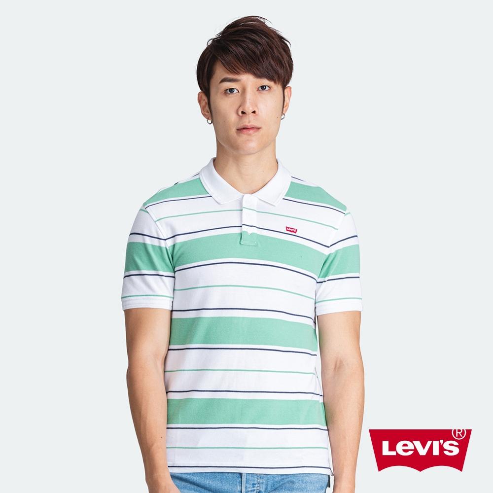 Levis 男款 短袖Polo衫 迷你刺繡Logo徽章 南歐條紋