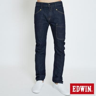 EDWIN E-FUNCTION 3D機能剪裁 窄直筒牛仔褲-男-原藍色