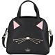 Kate Spade Cat's Lottie 防刮牛皮貓咪臉手提/肩背貝殼包(黑色) product thumbnail 1