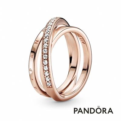 【Pandora官方直營】三環交織細版戒指