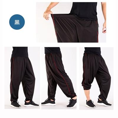 CS衣舖 加大尺碼 32-52腰 吸濕排汗 速乾 鬆緊腰圍 運動褲 長褲 兩色