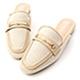 D+AF 愜意經典.馬銜釦拼接平底穆勒鞋*米 product thumbnail 1