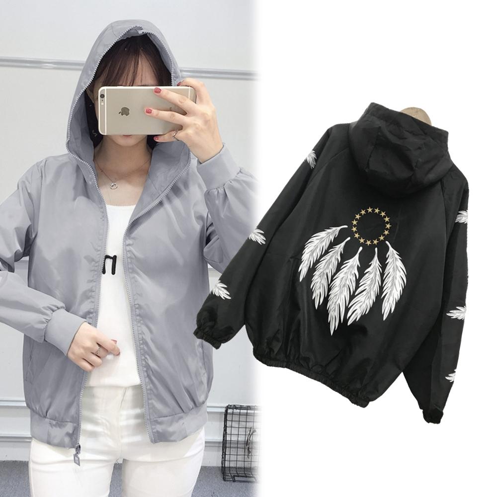 【韓國K.W.】(預購) 氣質好衣輕薄涼感風衣防曬外套