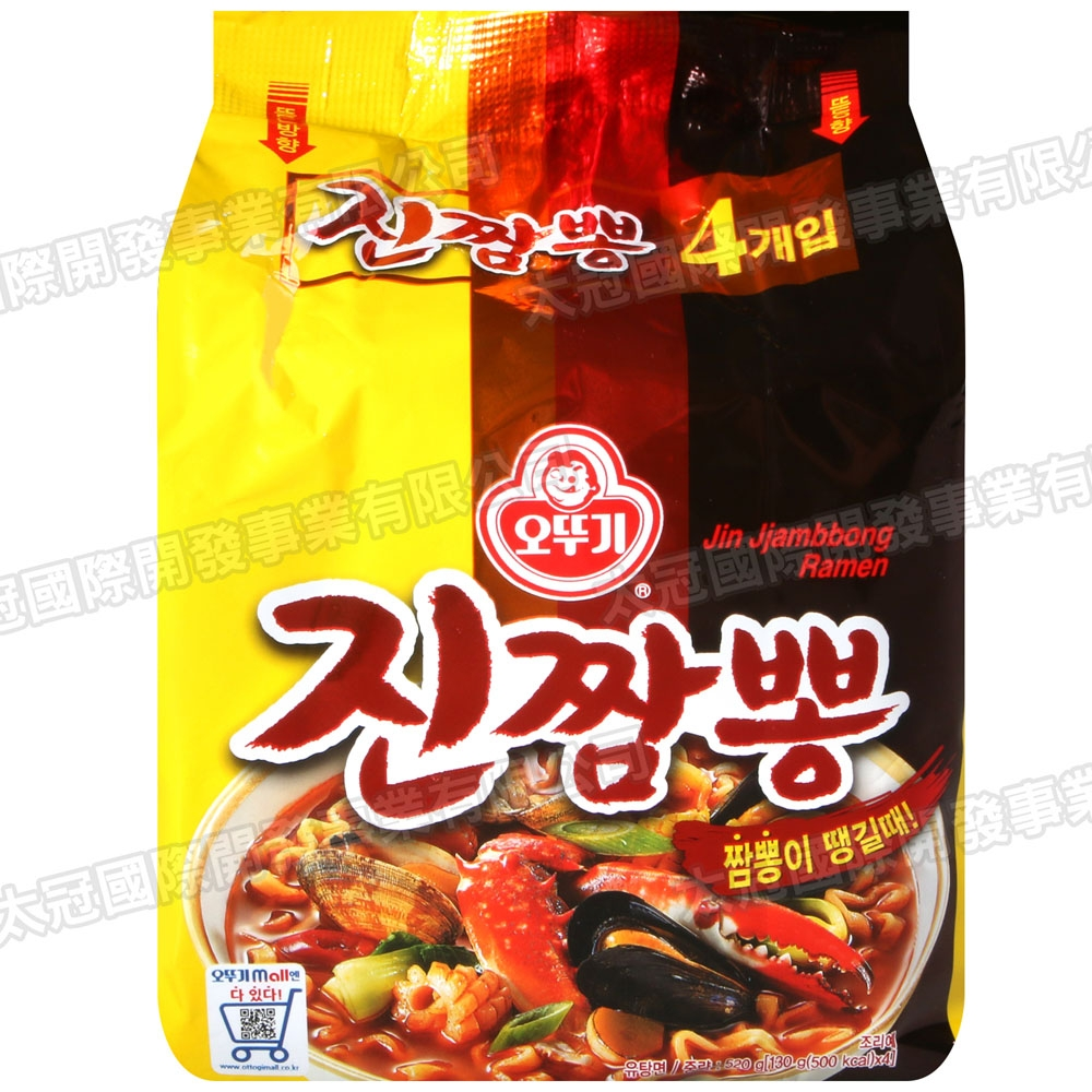 不倒翁 金螃蟹風味炒麵[四袋入](520g)