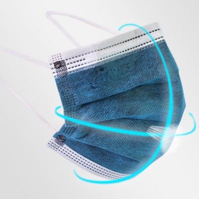 四層防護熔噴布活性碳口罩(2盒100片)|2色任選