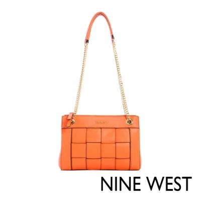 NINE WEST ELLIE編織鍊帶包-亮橘(116811)