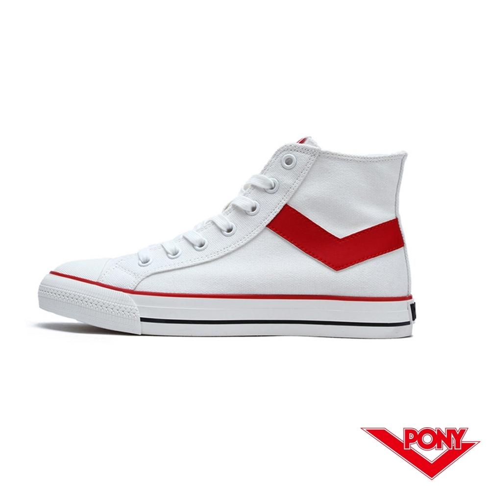 【PONY】Shooter系列高筒經典復古帆布鞋 休閒鞋 女鞋 紅色