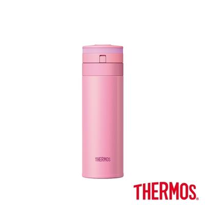 THERMOS膳魔師 超輕量自動上鎖不鏽鋼真空保溫瓶0.35L(JNS-350-P)