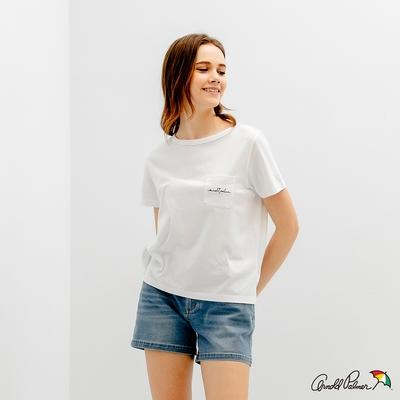 Arnold Palmer -女裝-普普風印花 LOGO TEE-白色