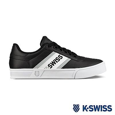 K-SWISS CourtLiteSpelloutS時尚運動鞋-中性款-白/黑