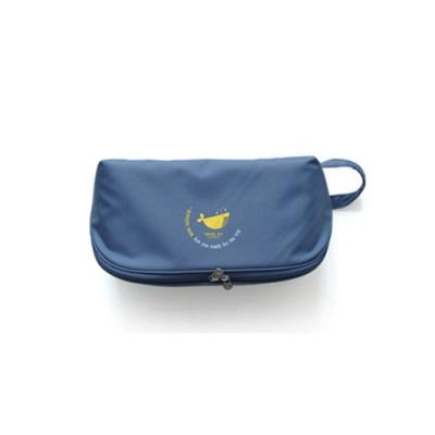DF Queenin - 旅行多功能貼身內衣褲收納袋-鯨魚藍