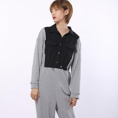 設計所在Style-連身褲潮小眾設計款寬鬆休閒九分工裝褲