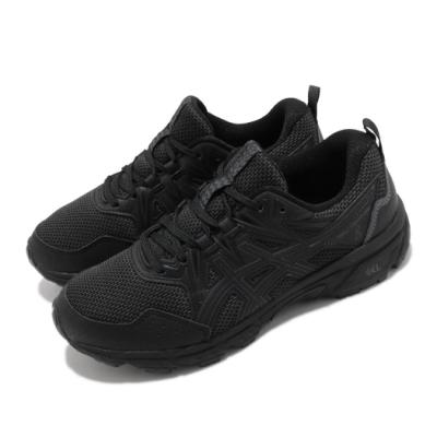 Asics 慢跑鞋 Gel Venture 8 D 寬楦 女鞋 亞瑟士 野跑鞋 避震緩衝 高抓地力 黑 灰 1012A706001