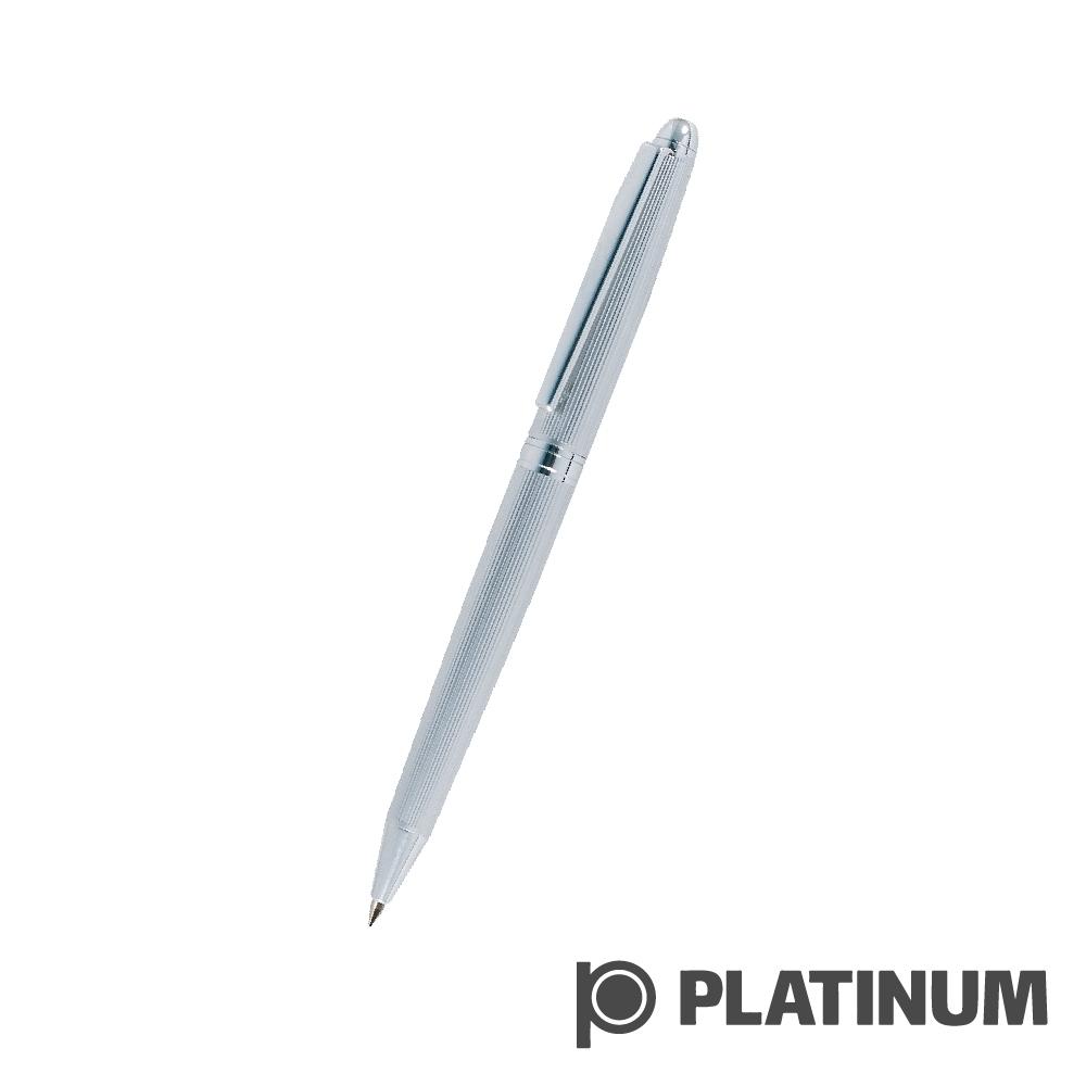 PLATINUM白金 原子筆   日系 直紋鍍銀  BAG-500