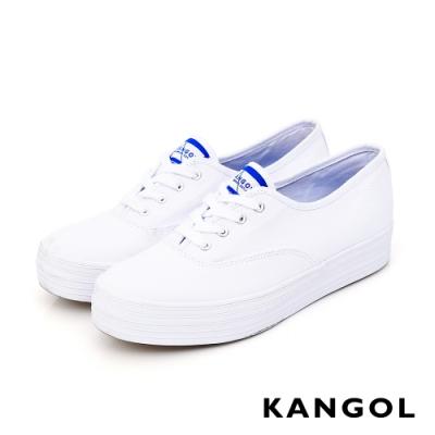 【KANGOL】經典款厚底帆布鞋-共兩色