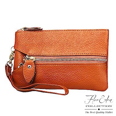 DF FlorEden 皮夾 - 多功能時尚牛皮手拿鑰匙零錢包-共3色