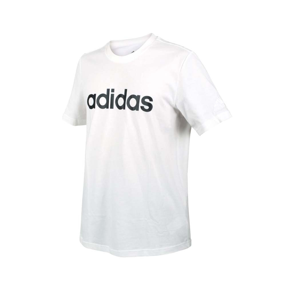 ADIDAS 男短袖T恤-純棉 愛迪達 慢跑 路跑 上衣 休閒 GL0058 白黑