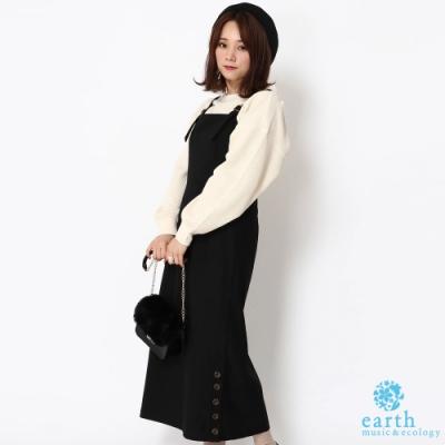 earth music 側下擺扭扣裝飾設計背心洋裝