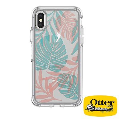 OtterBox iPhoneX炫彩幾何透明保護殼-度假叢林