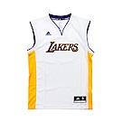 adidas愛迪達洛杉磯湖人隊白黃籃球球衣
